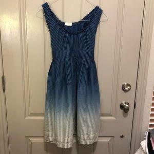 Converse Small Blue & White Pinstripe Dress